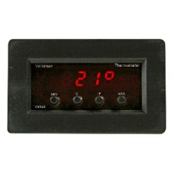 Digital panel thermometer with min max read out 9v 24vcc and 7 à 17vca 30°c to + 120°c