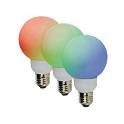Led lampe rgb e27 20 leds ø60mm