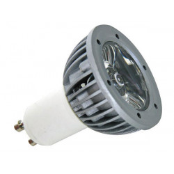 Bombilla led 3w color azul 230v gu10