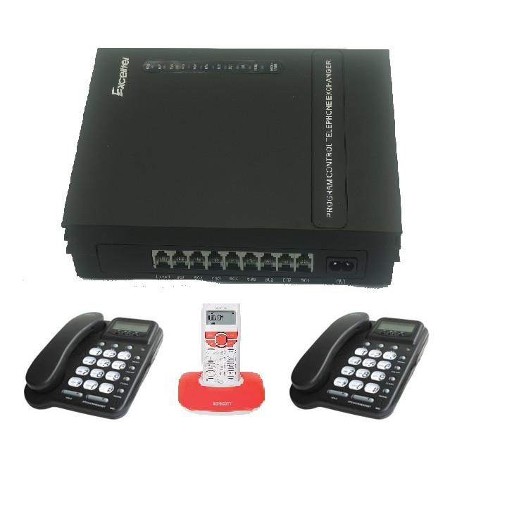 Telefonzentrale set 1 anschluss 8 terminals zubehor fur telefon telekommunikation telefonzentrale pabx