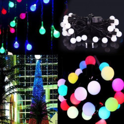 Rgb 100leds 10m ball led string lights outside,led decorative ball string ip54 led string light, led christmas light