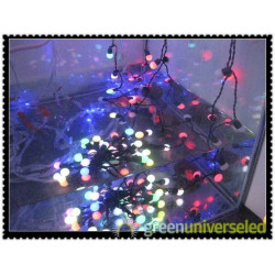 50 led 5m multi-color led shiny ball decoration light with 100-240v input
