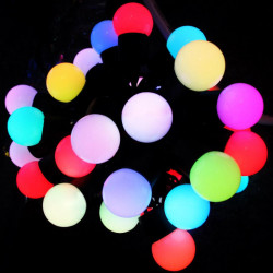 Rgbchristmas light chain,50led 5meter, waterproof ip68 rgb flashing light chain with power supply