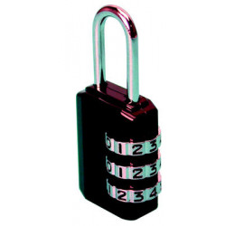 Padlock, 3 figures 25mm security 3 dial brass lock opening closing 3 number code
