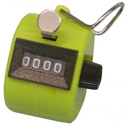 Green tally counter clicker golf mechanical 4 digit number counts 0-9999 hand held manual