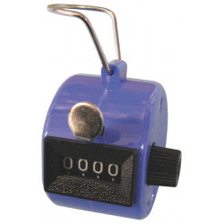 Blue Hand Held Tally Counter 4 Digit Mechanical Palm Clicker Counter
