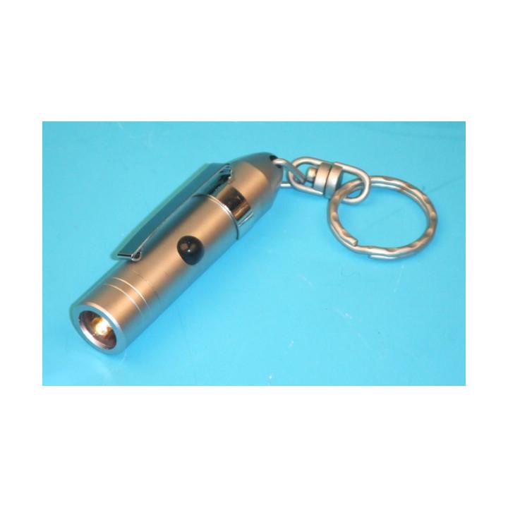 Mini torche eclairage electrique lampe miniature de poche a led blanche