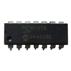 Microchip pic16f676-i/p ic 8bit flash mcu 16f676 dip14