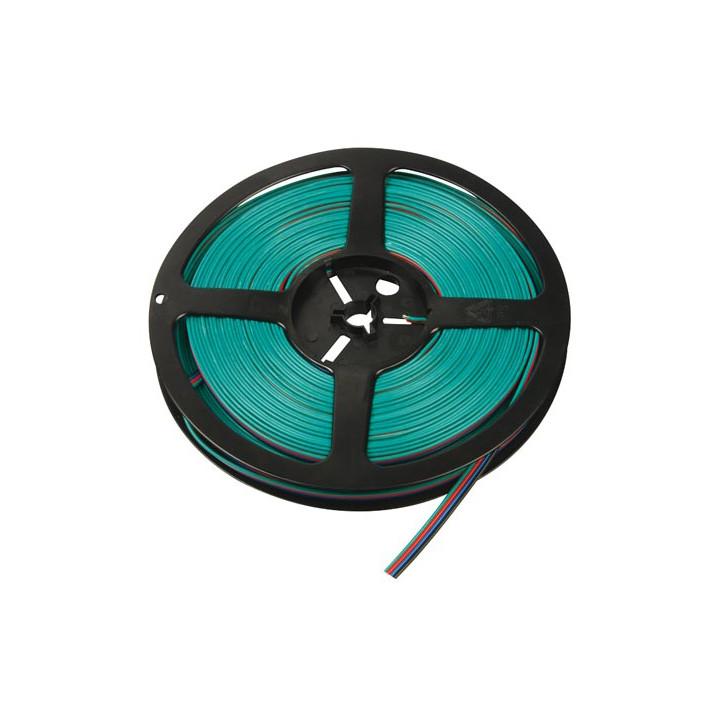 Rgb-kabel für led-leisten - 4-adrig - 25m