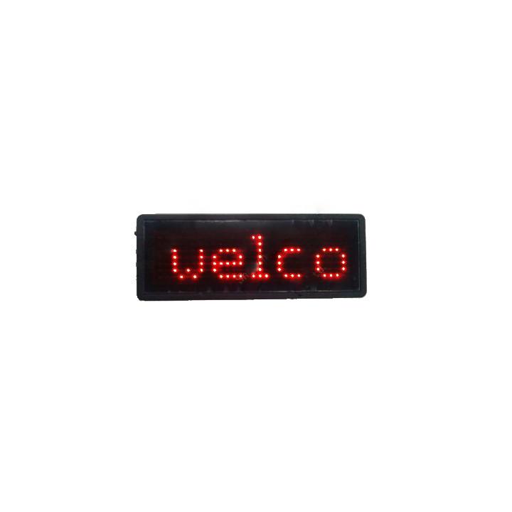 Led scrolling name message display badge tag