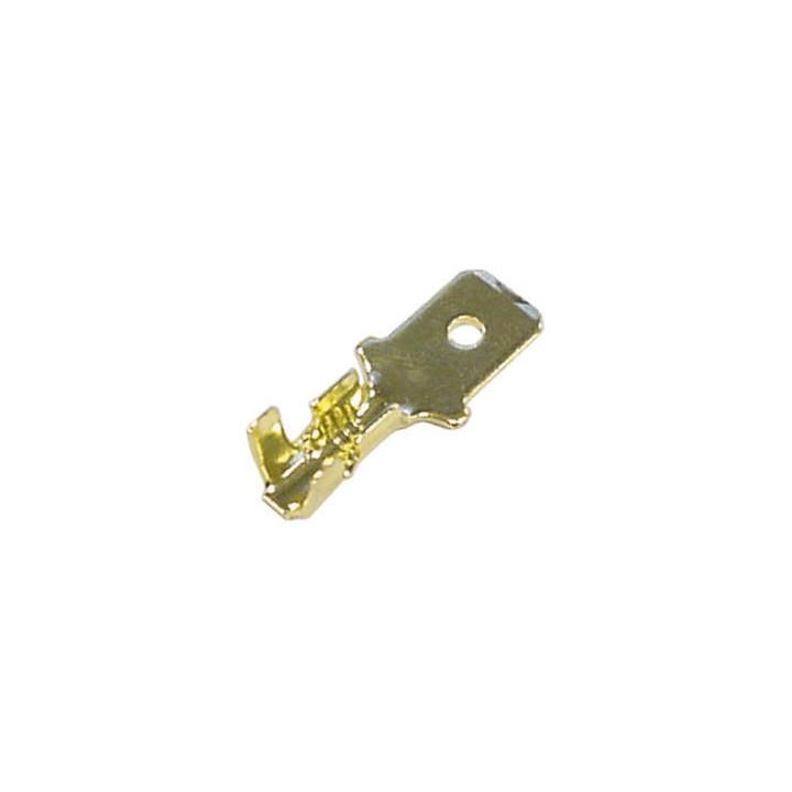 1 lug 8 millimetri faston maschio 6,3 x bronzo non isolata fmg/100