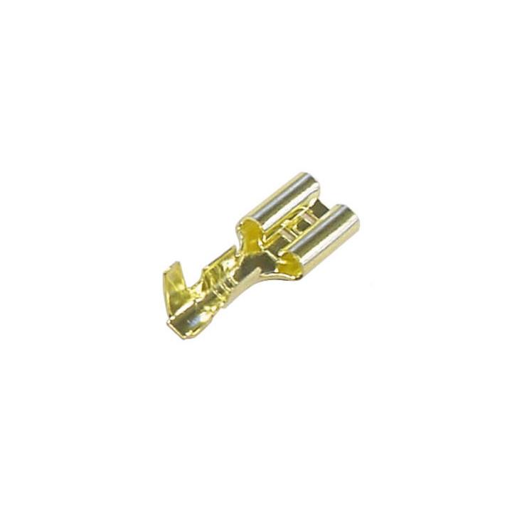 1 faston flachsteckhulse bronze 6.3 x 8mm ffg/100 /100