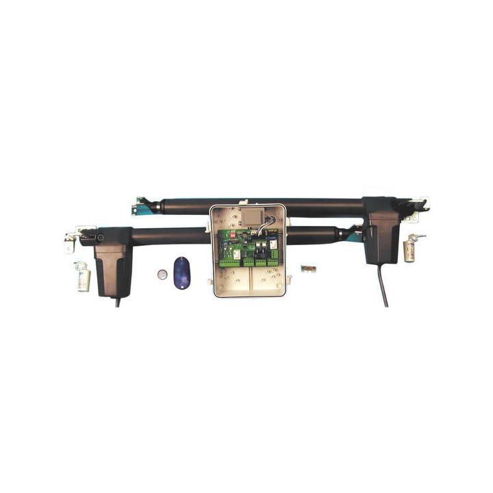 Kit automatisme portail 2 vantaux 2m 430mm a bloquage basic 420w motorisation portail motorisations