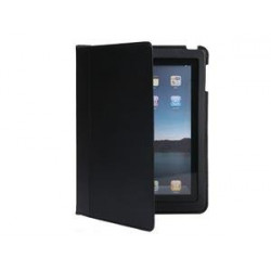 Ultra slim leather folding for apple ipad2 case (black)