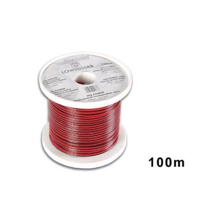 Lautsprecherkabel 2x0.50mm² rot schwarz lange auf rolle : 100m
