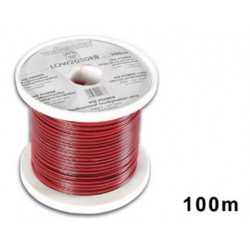 Loudspeaker wire red black 2 x 0.50mm² 100m