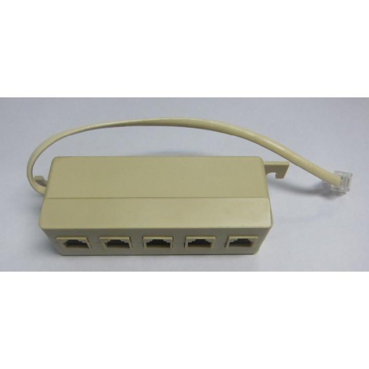 Multiprise telephonique rj11 mâle vers 5 rj11 repartiteur femelles prise telephone cordon