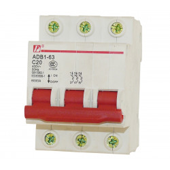 3p 20a 400v circuit breaker break electrical dz47-63  3-pole  20 amp