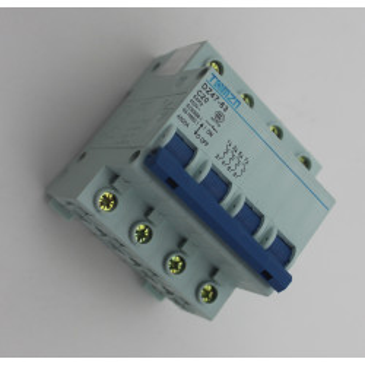 3p +n 20a 400v circuit breaker break electrical dz47-63  4-pole  20 amp