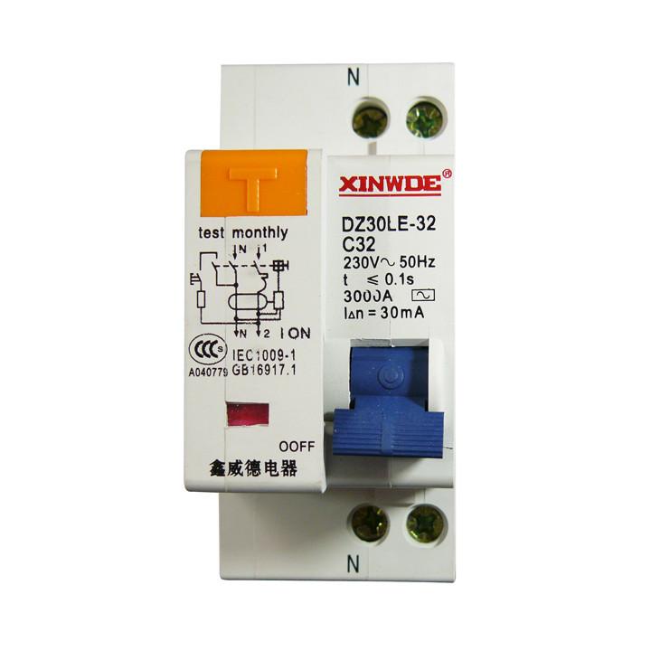 Dz30le dpnle 32a residual current circuit breaker break electrical