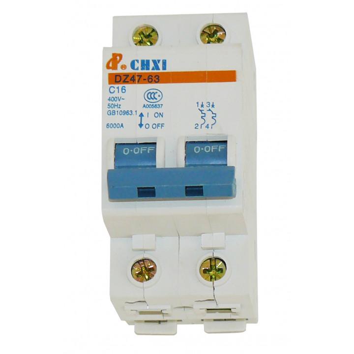 Dreipoliger unterbrecher 2p 16a 230v sicherheitstechnik elektronik elektrischer elektrische