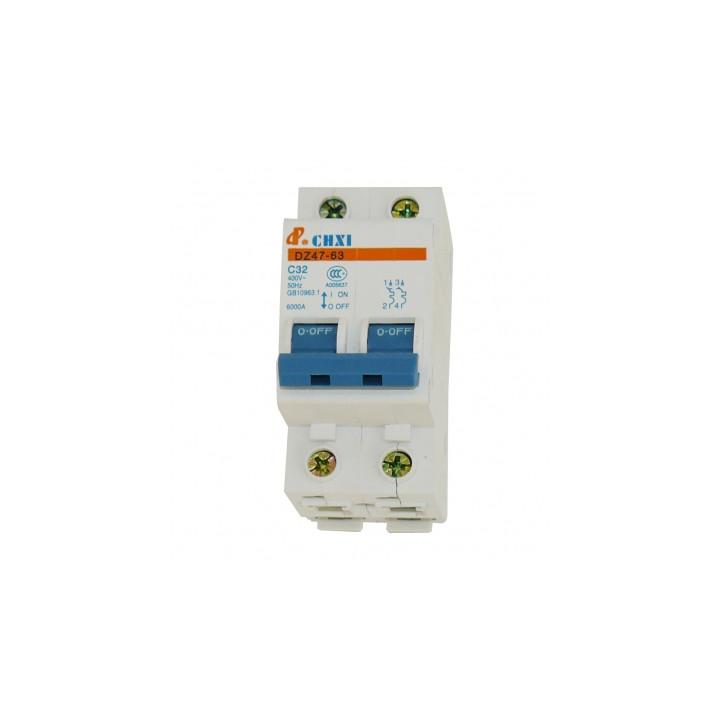 Disyuntor 2p 32a 230v electronico montaje en riel modular.