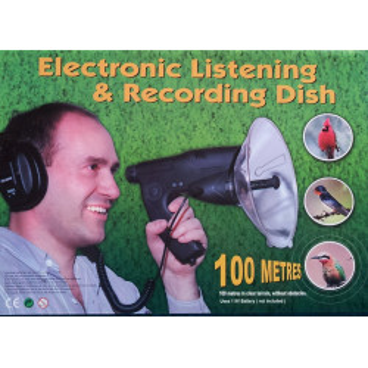 Strumento d'ascolto elettronico a distanza suono uccelli + casco d'ascolto uccelli