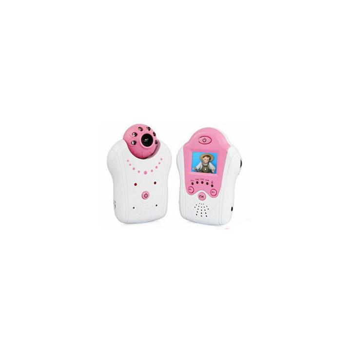 Audio video baby monitor mit 1,5-zoll-bildschirm und kamera farbe nachtsicht 2,4 ghz