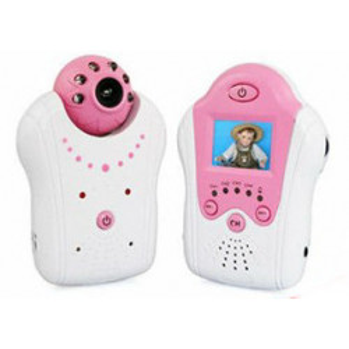 Babyphone audio vidéo avec écran 1.5 pouces et camera couleur à vision nocturne 2.4ghz