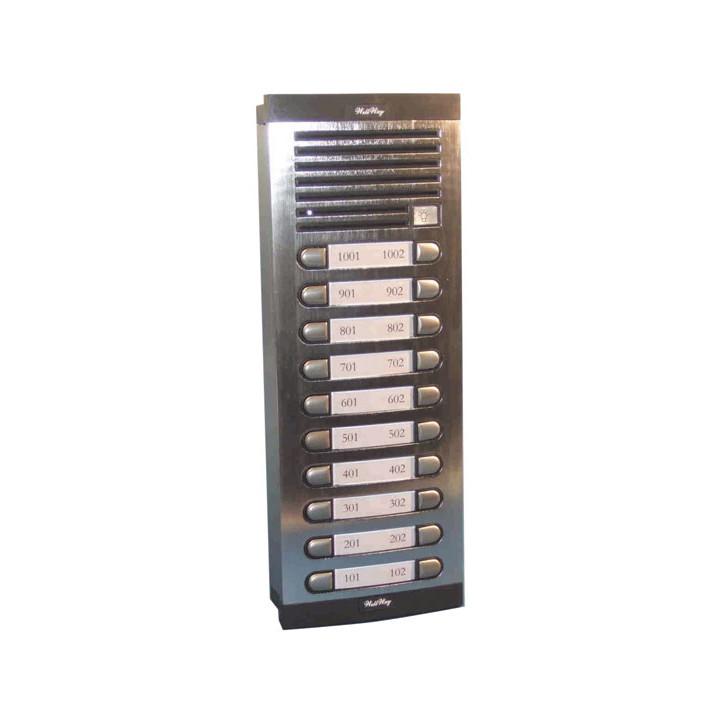 Interphone de rue 20bp (alppn  20xcppnà rajouter) platine interphone de rue platines pour interphone