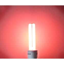 Red energy saving lamp, e27, 13w 15w 230v