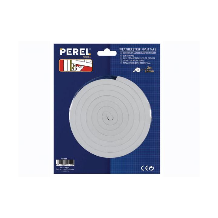 Joint autoadhesivo de espuma 15mm x 2m color blanco resistente al aire el polvo y la humedad