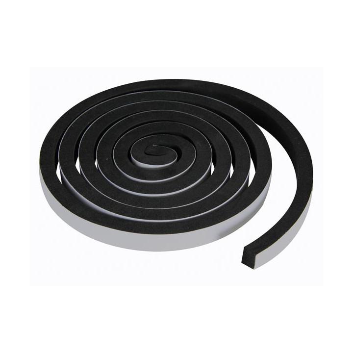 Joint autoadhesivo de espuma 15mm x 2m color negro resistente al aire el polvo y la humedad