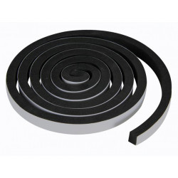 Weatherstrip foam tape 15mm x 2m black air dust and moisture proof