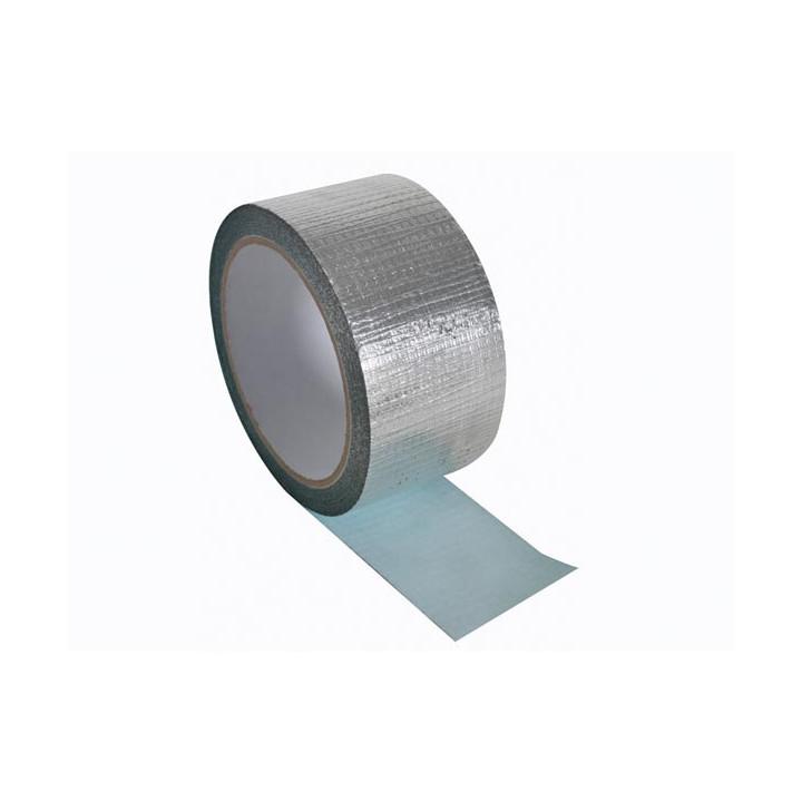 Cinta adhesiva de alumio reforzada 50mm x 10m para el aislamiento la juntura el enmascaramiento