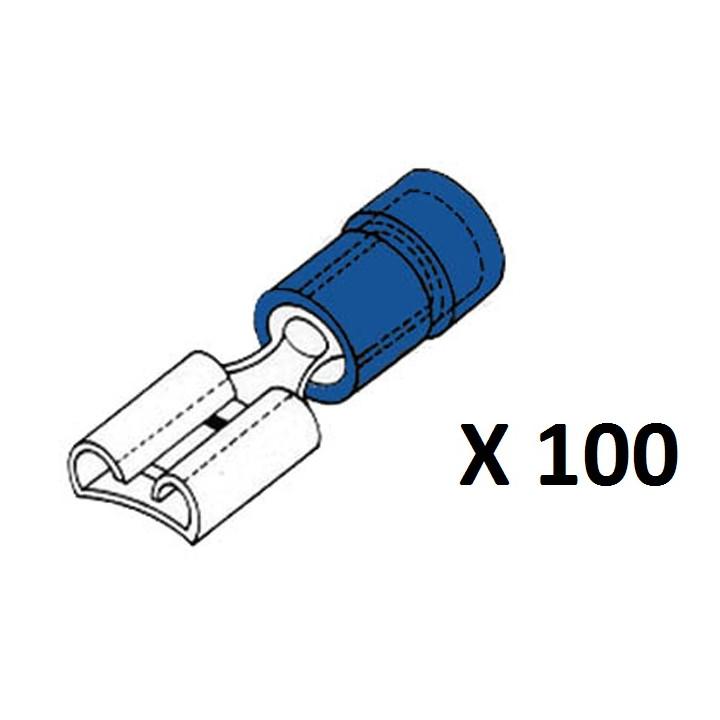 Female connector 4.8mm blue fbf4/100