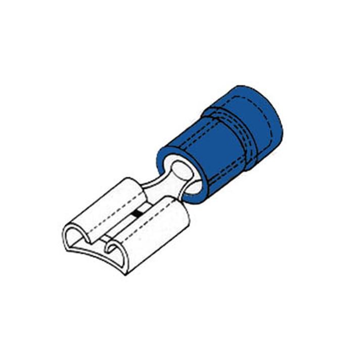 Cosse femelle 4.8mm bleu fbf4/100 a sertir 100 pieces