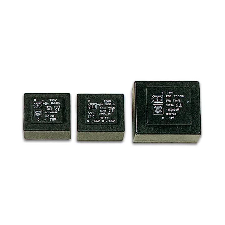 Encapsulated transformer 1.2va 1x9v 1.x0.133a 1090012m