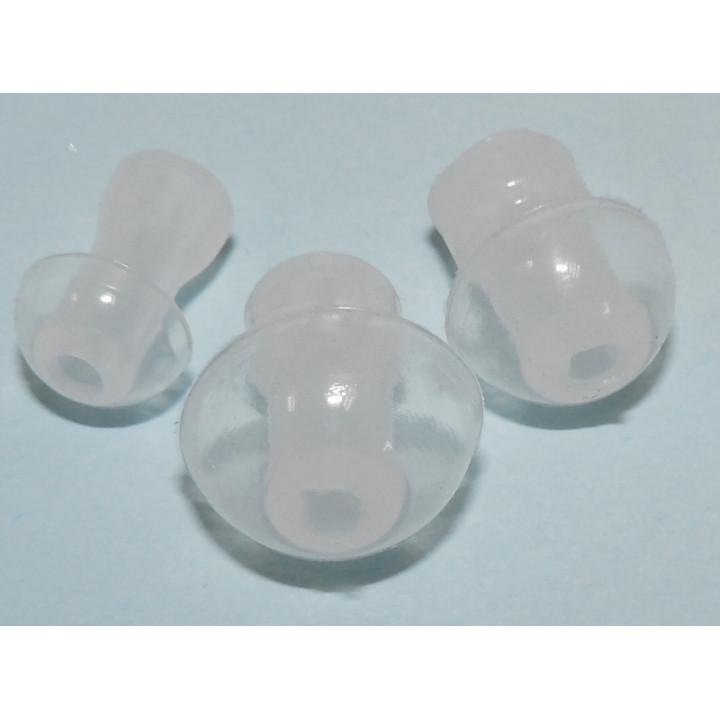 Embout oreille pour sonotone prothese aso et aso1 lot de 3 embouts petit moyen et gros format