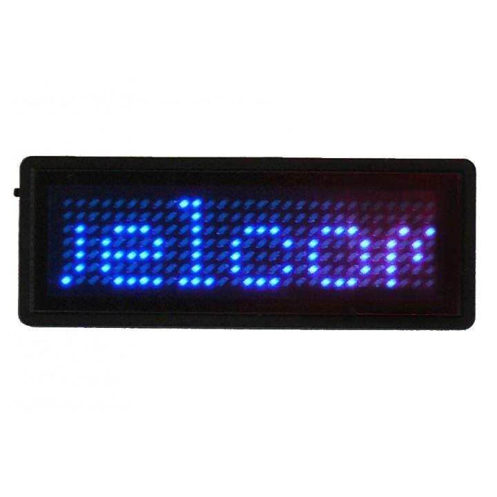 Blue badge led programables 5 caracteres 29 x 7 matriz de puntos de 5 dígitos de la tarjeta de b729tsb