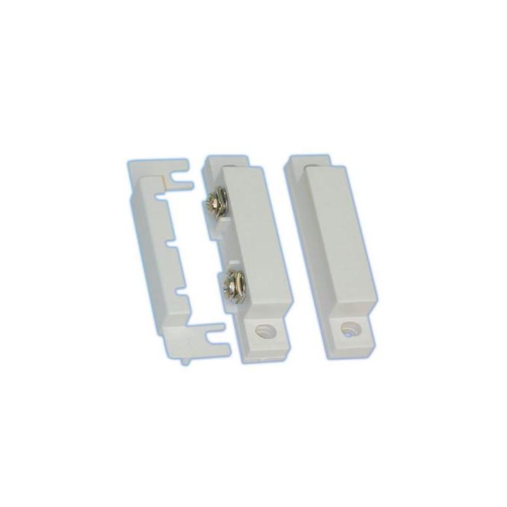 Detecteur ouverture capteur magnetique contact alarme nf saillie blanc mc-31