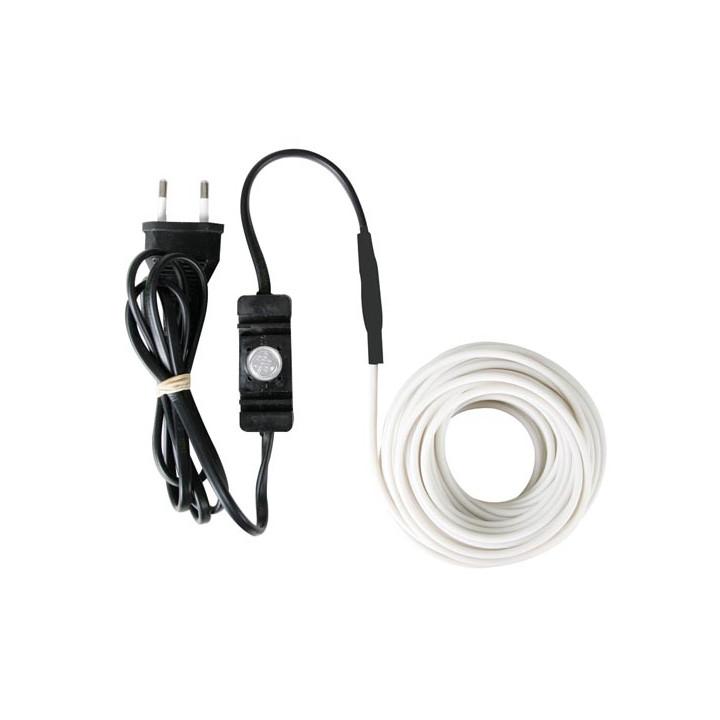 Cable chauffant electrique cordon anti gel 12m 120-0t antigel canalisation tuyau eau avec thermostat