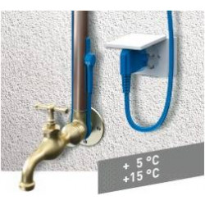 Cable chauffant thermostat antigel aquacable-1m canalisation tuyau eau anti gel gcordon electrique