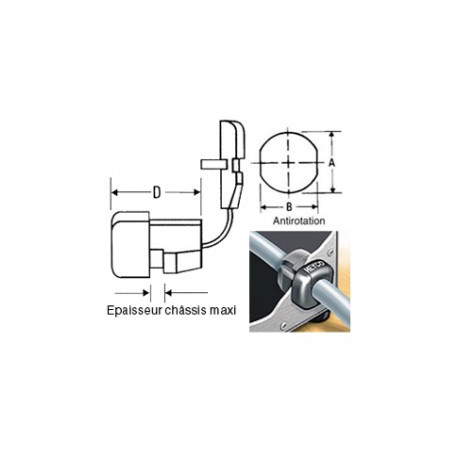 A locking cable clamp black sr7p2