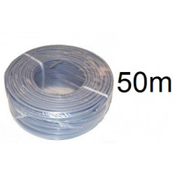 Electrical cable 50 m son 2 0.75 mm2 pvc flexible gray power supply vvf2x075g