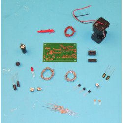 Vocal switch for recording assembly kit acoustic message