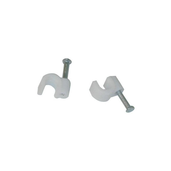 Cavalier diamètre 7 blanc (sachet 100 pcs) attache cable fixation cable cable accessoires fixation