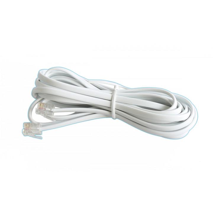 Cordon telephonique 3m blanc rj11 vers rj11 6p/4c fiche cable fil telephone