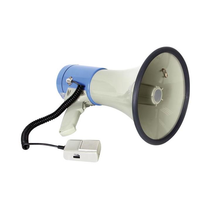 Megaphone 25w mp3 vocal pour carte sd et usb mp25fmu microphone démontable sirene 20w 22w