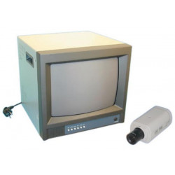 Pack coloured camera video monitoring + audio video coloured monitor coloured video monitoring system